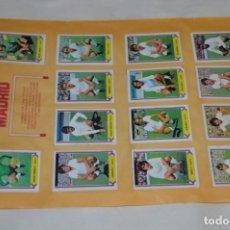 Cromos de Fútbol: HOJA DOBLE CARA COMPLETA / R. MADRID - ATLÉT MADRID / LIGA 80 – 81 / 1980 - 1981 / 80 81 - EDIC ESTE. Lote 197184732