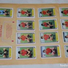 Cromos de Fútbol: HOJA DOBLE CARA COMPLETA / R. MURCIA - OSASUNA / LIGA 80 – 81 / 1980 - 1981 / 80 81 - EDIC ESTE. Lote 197185688