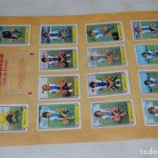 Cromos de Fútbol: HOJA DOBLE CARA COMPLETA / LAS PALMAS - HÉRCULES / LIGA 80 – 81 / 1980 - 1981 / 80 81 - EDIC ESTE. Lote 197187061