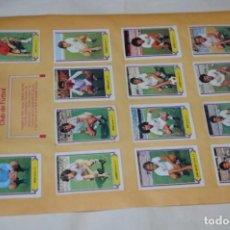 Cromos de Fútbol: HOJA DOBLE CARA / SEVILLA -- SALAMANCA / LIGA 80 – 81 / 1980 - 1981 / 80 81 - EDIC ESTE. Lote 197188216