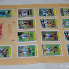 Cromos de Fútbol: HOJA DOBLE CARA COMPLETA / ESPAÑOL -- GIJÓN / LIGA 80 – 81 / 1980 - 1981 / 80 81 - EDIC ESTE. Lote 197190115
