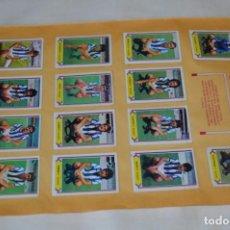 Cromos de Fútbol: HOJA DOBLE CARA COMPLETA / REAL SOCIEDAD - VALENCIA / LIGA 80 – 81 / 1980 - 1981 / 80 81 - EDIC ESTE. Lote 197191026