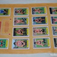 Cromos de Fútbol: HOJA DOBLE CARA COMPLETA / ATLÉTICO BILBAO -- BETIS / LIGA 80 – 81 / 1980 - 1981 / 80 81 - EDIC ESTE. Lote 197192032