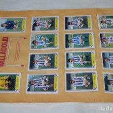 Cromos de Fútbol: HOJA DOBLE CARA / VALLADOLID -- ZARAGOZA / LIGA 80 – 81 / 1980 - 1981 / 80 81 - EDIC ESTE. Lote 197193173