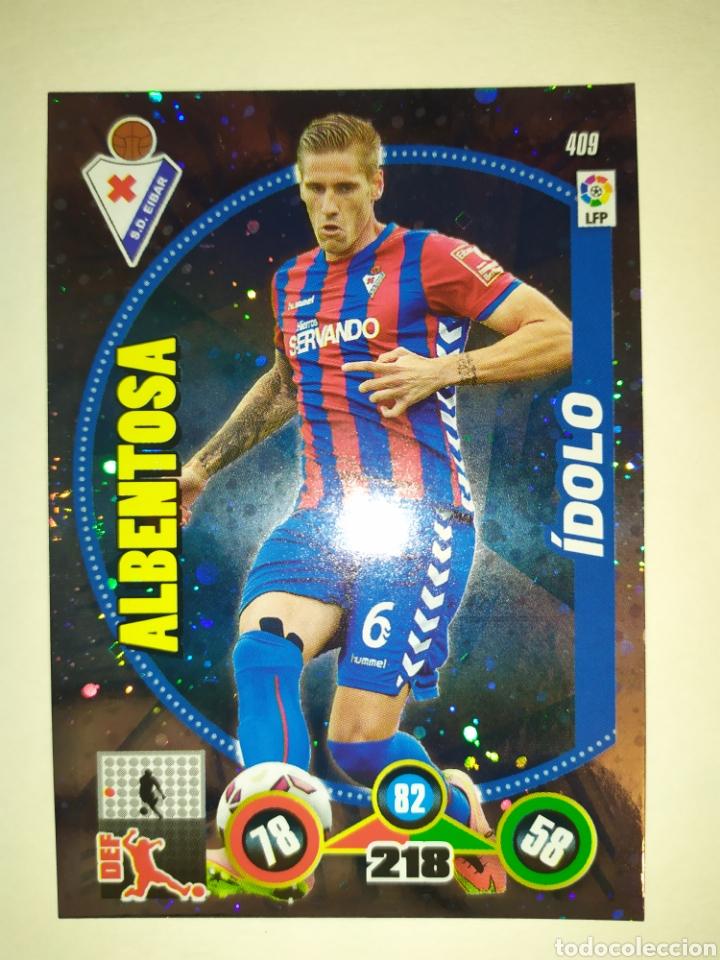 ADRENALYN 2014 2015 PANINI ALBENTOSA IDOLO CORREGIDO N° 409 EIBAR (Coleccionismo Deportivo - Álbumes y Cromos de Deportes - Cromos de Fútbol)
