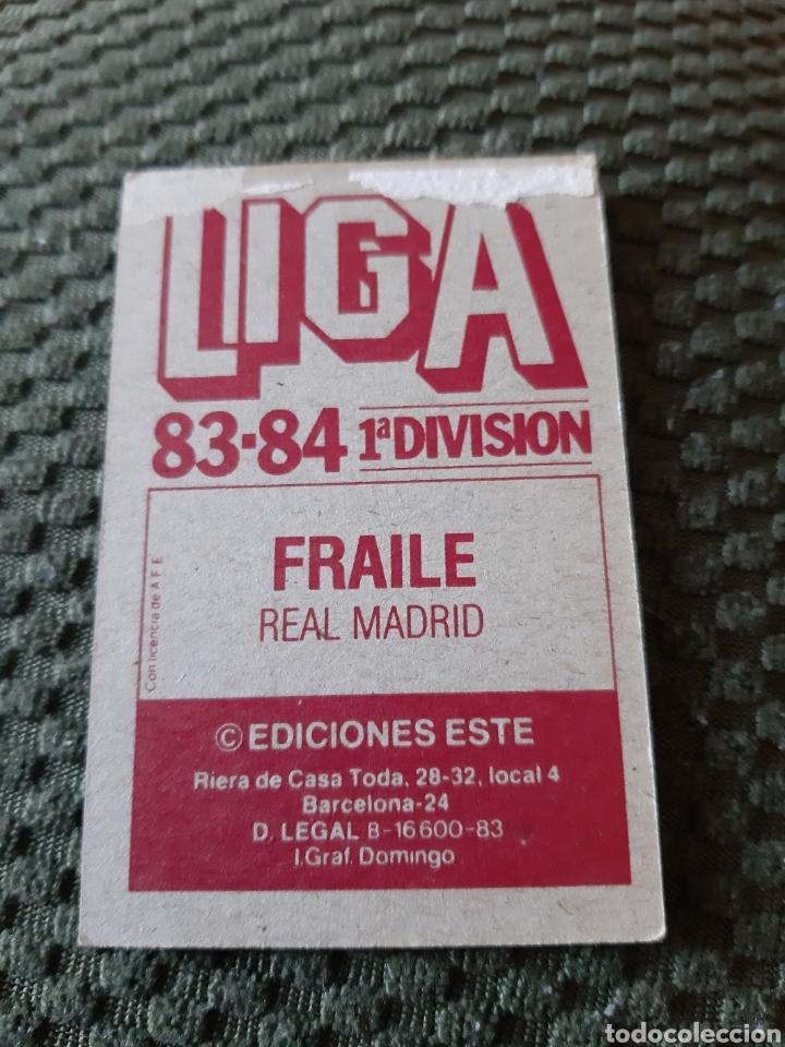 Cromos de Fútbol: EDICIONES ESTE 83 84 FRAILE REAL MADRID - Foto 2 - 198293162