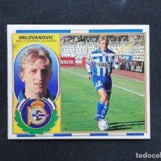 Figurine di Calcio: DEP MILOVANOVIC DEPORTIVO DE LA CORUÑA 1996 1997 EDICIONES ESTE 96 97 SIN PEGAR NUNCA PEGADO. Lote 198381546