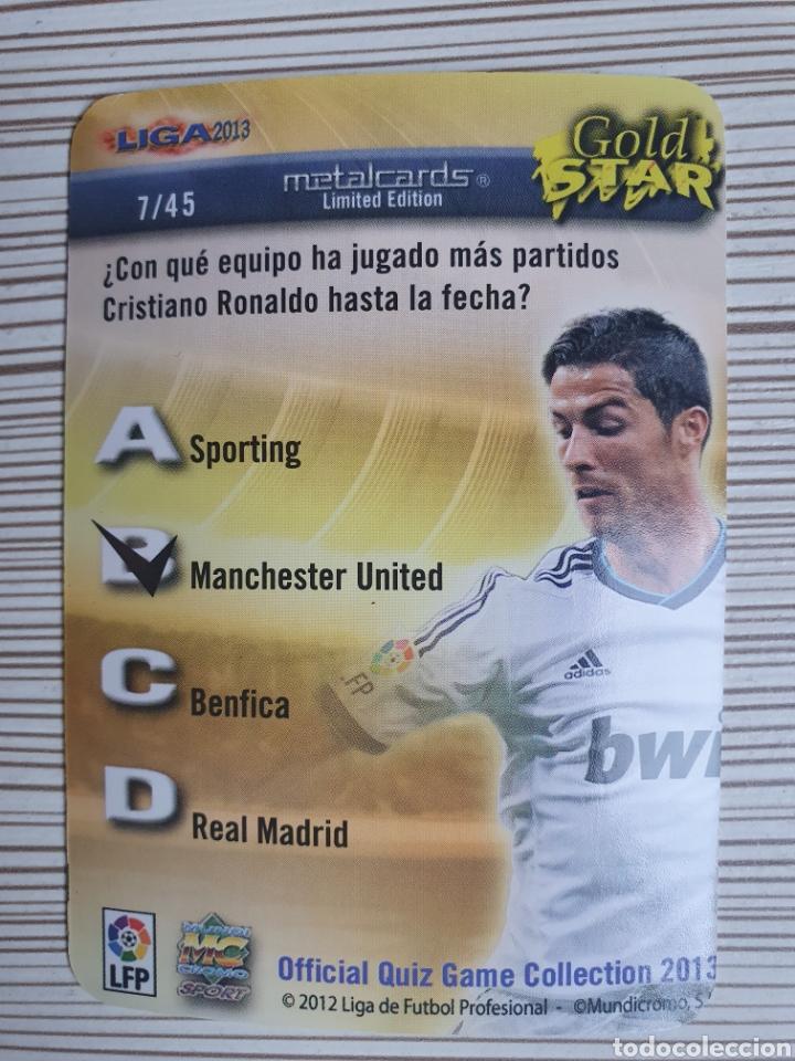 Cromos de Fútbol: 7/45 CRISTIANO RONALDO GOLDSTAR FONDO LETRAS-MUNDICROMO 2012 2013 - Foto 2 - 226114891