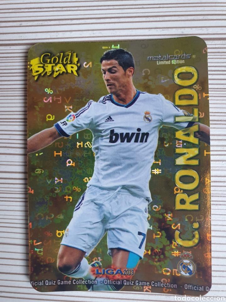 7/45 CRISTIANO RONALDO GOLDSTAR FONDO LETRAS-MUNDICROMO 2012 2013 (Coleccionismo Deportivo - Álbumes y Cromos de Deportes - Cromos de Fútbol)