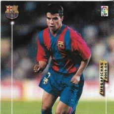 Cromos de Fútbol: CROMO PANINI. MEGAFICHAS 2003/2004. SAVIOLA. FC BARCELONA. Lote 198532551