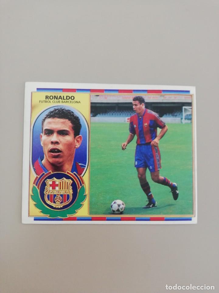 RONALDO CON PELO BARCELONA ESTE 96 97 1996 1997 (Coleccionismo Deportivo - Álbumes y Cromos de Deportes - Cromos de Fútbol)