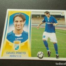 Cromos de Fútbol: ESTE 09-10 U.F Nº35 DAVID PRIETO XEREZ NUEVO SIN PEGAR. Lote 198557267