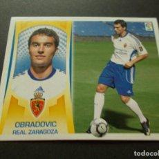Cromos de Fútbol: ESTE 09-10 U.F Nº47 OBRADOVIC ZARAGOZA NUEVO SIN PEGAR. Lote 198558493
