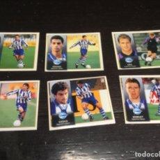 Cromos de Fútbol: 6 CROMOS LIGA 98/99 ESTE - DEPORTIVO ALAVES . Lote 198668266