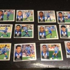 Cromos de Fútbol: 12 CROMOS LIGA 98/99 ESTE - DEPORTIVO DE LA CORUÑA . Lote 198668365