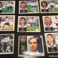 Cromos de Fútbol: 12 CROMOS LIGA 98/99 ESTE - REAL ZARAGOZA . Lote 198668696
