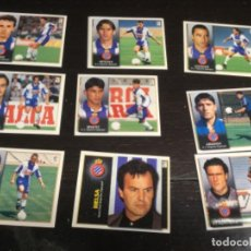 Cromos de Fútbol: 9 CROMOS LIGA 98/99 ESTE - REAL CLUB DEPORTIVO ESPAÑOL . Lote 198669130