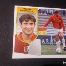 Cromos de Fútbol: VILLENA BAJA BURGOS FORMATO CARTON LEER EDICIONES ESTE LIGA TEMPORADA 91 92 1991 1992. Lote 198669727