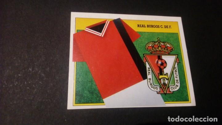 ESCUDO BURGOS FORMATO CARTON LEER EDICIONES ESTE LIGA TEMPORADA 91 92 1991 1992 (Coleccionismo Deportivo - Álbumes y Cromos de Deportes - Cromos de Fútbol)