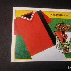 Cromos de Fútbol: ESCUDO BURGOS FORMATO CARTON LEER EDICIONES ESTE LIGA TEMPORADA 91 92 1991 1992. Lote 198669743