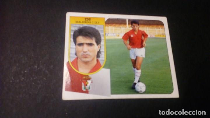 EDU BURGOS FORMATO CARTON LEER EDICIONES ESTE LIGA TEMPORADA 91 92 1991 1992 (Coleccionismo Deportivo - Álbumes y Cromos de Deportes - Cromos de Fútbol)