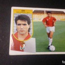 Cromos de Fútbol: EDU BURGOS FORMATO CARTON LEER EDICIONES ESTE LIGA TEMPORADA 91 92 1991 1992. Lote 198669758