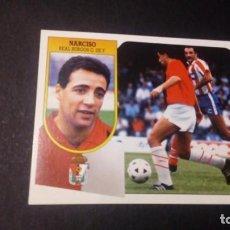 Cromos de Fútbol: NARCISO COLOCA BURGOS FORMATO CARTON LEER EDICIONES ESTE LIGA TEMPORADA 91 92 1991 1992. Lote 198669778