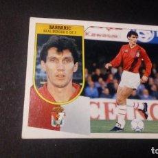 Cromos de Fútbol: BARBARIC BURGOS FORMATO CARTON LEER EDICIONES ESTE LIGA TEMPORADA 91 92 1991 1992. Lote 198669781