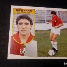 Cromos de Fútbol: JOSEBA AGUIRRE BURGOS FORMATO CARTON LEER EDICIONES ESTE LIGA TEMPORADA 91 92 1991 1992. Lote 198669792