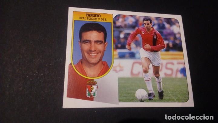 TAMAYO BURGOS FORMATO CARTON LEER EDICIONES ESTE LIGA TEMPORADA 91 92 1991 1992 (Coleccionismo Deportivo - Álbumes y Cromos de Deportes - Cromos de Fútbol)
