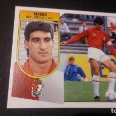 Cromos de Fútbol: RIBERA BURGOS FORMATO CARTON LEER EDICIONES ESTE LIGA TEMPORADA 91 92 1991 1992. Lote 198669830