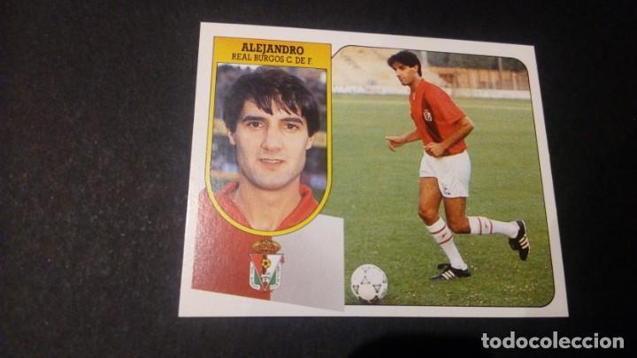 ALEJANDRO BURGOS FORMATO CARTON LEER EDICIONES ESTE LIGA TEMPORADA 91 92 1991 1992 (Coleccionismo Deportivo - Álbumes y Cromos de Deportes - Cromos de Fútbol)