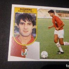 Cromos de Fútbol: ALEJANDRO BURGOS FORMATO CARTON LEER EDICIONES ESTE LIGA TEMPORADA 91 92 1991 1992. Lote 198669835