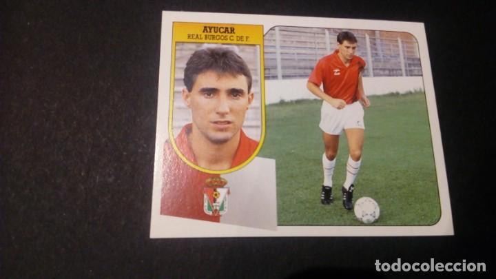 AYUCAR BURGOS FORMATO CARTON LEER EDICIONES ESTE LIGA TEMPORADA 91 92 1991 1992 (Coleccionismo Deportivo - Álbumes y Cromos de Deportes - Cromos de Fútbol)