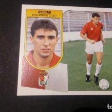 Cromos de Fútbol: AYUCAR BURGOS FORMATO CARTON LEER EDICIONES ESTE LIGA TEMPORADA 91 92 1991 1992. Lote 198669836