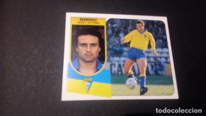 BERNARDO CADIZ FORMATO CARTON LEER EDICIONES ESTE LIGA TEMPORADA 91 92 1991 1992 (Coleccionismo Deportivo - Álbumes y Cromos de Deportes - Cromos de Fútbol)