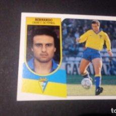 Cromos de Fútbol: BERNARDO CADIZ FORMATO CARTON LEER EDICIONES ESTE LIGA TEMPORADA 91 92 1991 1992. Lote 198669846