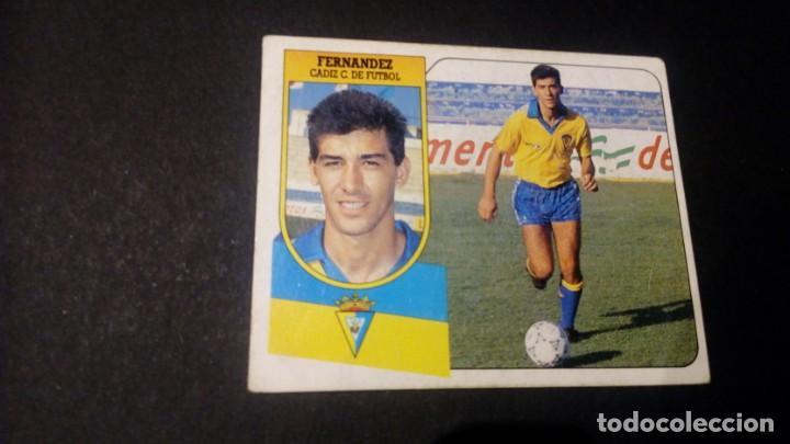 FERNANDEZ CADIZ FORMATO CARTON LEER EDICIONES ESTE LIGA TEMPORADA 91 92 1991 1992 (Coleccionismo Deportivo - Álbumes y Cromos de Deportes - Cromos de Fútbol)
