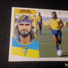 Cromos de Fútbol: JUAN JOSE BAJA CADIZ FORMATO CARTON LEER EDICIONES ESTE LIGA TEMPORADA 91 92 1991 1992. Lote 198669858