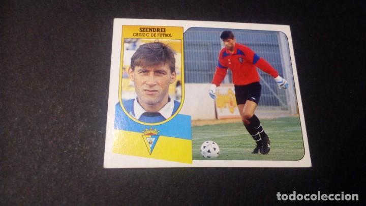 SZENDREI CADIZ FORMATO CARTON LEER EDICIONES ESTE LIGA TEMPORADA 91 92 1991 1992 (Coleccionismo Deportivo - Álbumes y Cromos de Deportes - Cromos de Fútbol)