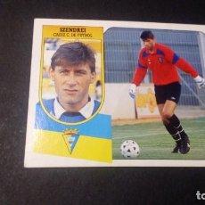 Cromos de Fútbol: SZENDREI CADIZ FORMATO CARTON LEER EDICIONES ESTE LIGA TEMPORADA 91 92 1991 1992. Lote 198669867