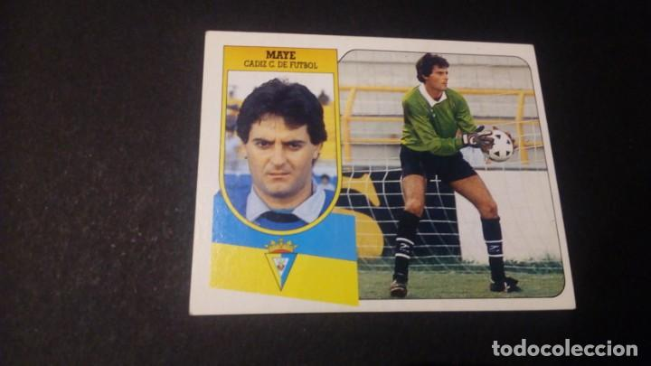 MAYE CADIZ FORMATO CARTON LEER EDICIONES ESTE LIGA TEMPORADA 91 92 1991 1992 (Coleccionismo Deportivo - Álbumes y Cromos de Deportes - Cromos de Fútbol)