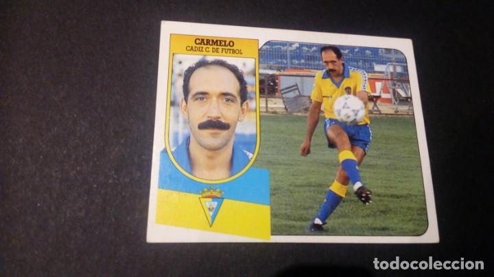 CARMELO CADIZ FORMATO CARTON LEER EDICIONES ESTE LIGA TEMPORADA 91 92 1991 1992 (Coleccionismo Deportivo - Álbumes y Cromos de Deportes - Cromos de Fútbol)