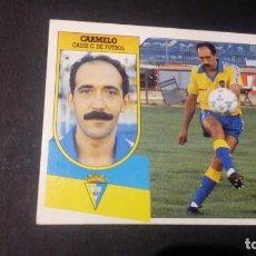 Cromos de Fútbol: CARMELO CADIZ FORMATO CARTON LEER EDICIONES ESTE LIGA TEMPORADA 91 92 1991 1992. Lote 198669892