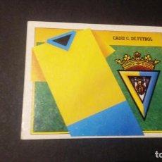 Cromos de Fútbol: ESCUDO CADIZ FORMATO CARTON LEER EDICIONES ESTE LIGA TEMPORADA 91 92 1991 1992. Lote 198669903