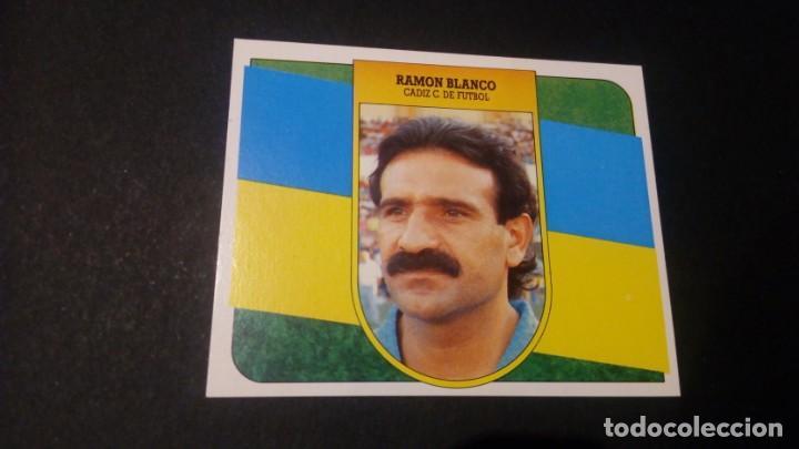 RAMON BLANCO CADIZ FORMATO CARTON LEER EDICIONES ESTE LIGA TEMPORADA 91 92 1991 1992 (Coleccionismo Deportivo - Álbumes y Cromos de Deportes - Cromos de Fútbol)