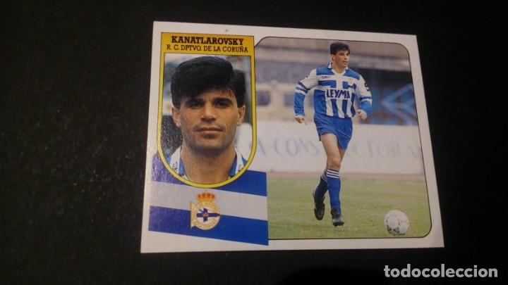 KANATLAROVSKY DEPORTIVO CORUÑA FORMATO CARTON LEER EDICIONES ESTE LIGA TEMPORADA 91 92 1991 1992 (Coleccionismo Deportivo - Álbumes y Cromos de Deportes - Cromos de Fútbol)