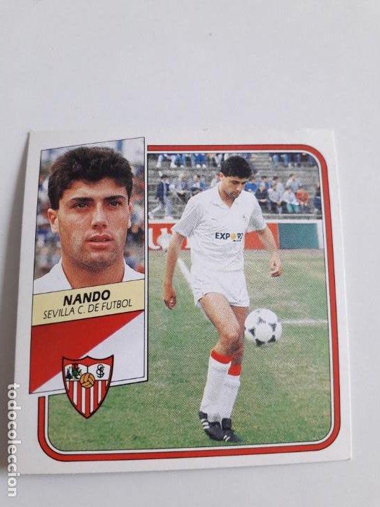 EDICIONES ESTE NANDO SEVILLA NUEVO SIN PEGAR.89 90 1989 1990 (Coleccionismo Deportivo - Álbumes y Cromos de Deportes - Cromos de Fútbol)