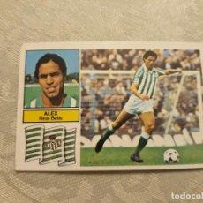 Cromos de Fútbol: ALEX DEL BETIS NUNCA PEGADO DE EDICIONES E SOBADO 82-83. Lote 199247418