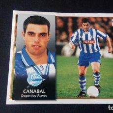 Cromos de Fútbol: CANABAL ALAVÉS SIN PEGAR PANINI EDICIONES ESTE LIGA TEMPORADA 1998 1999 98 99 . Lote 199247433